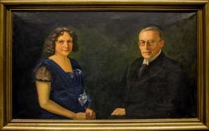Portræt af Rektor V. S. Lauritsen og hustru