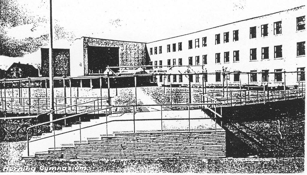 Tegning af bygning i Nørregade